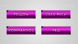 Twitch Panels OBS ready lila pink mit Icons