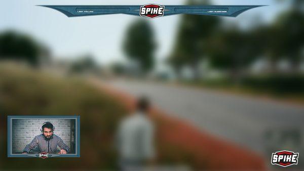 Spike Twitch graublau Overlay