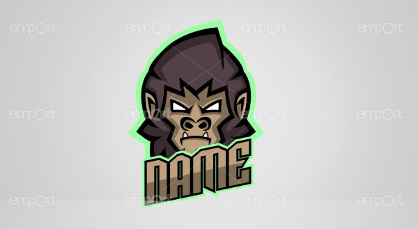 Gamer Logo name monkey Twitch Avatar