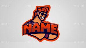 Gamer Twitch Logo Mann cool guy Avatar name änderbar