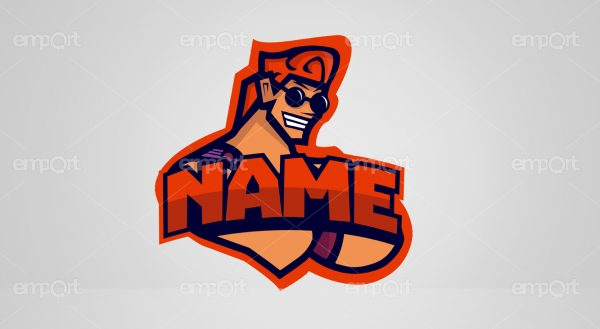 Gamer Twitch Logo Mann cool guy Avatar name änderbar