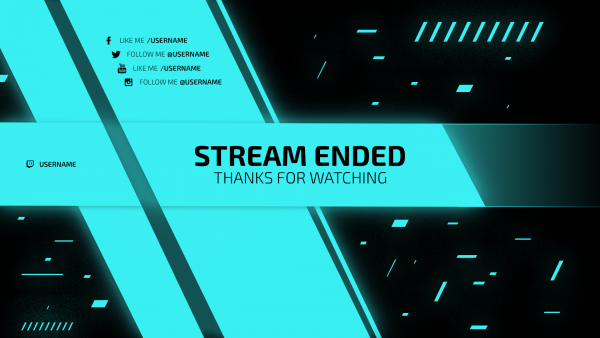 hellblau Twitch Screen endling Stream