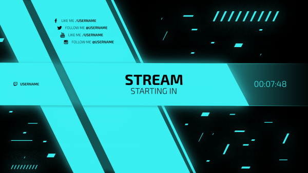 hellblau Twitch Screen Starting Stream